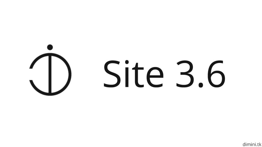 Site update 3.6