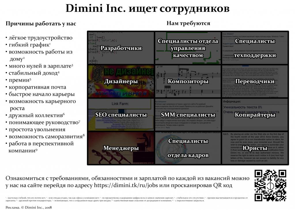 Работа в Dimini Inc.
